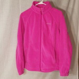 Hot pink Columbia fleece jacket